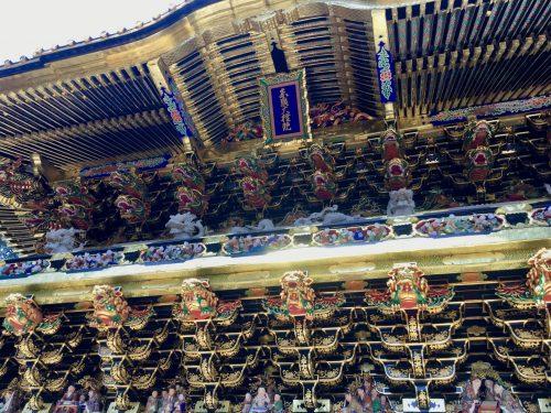 Der besondere Hang zum Detail ist überall zu finden, Nikko Toshogu, Tochigi, Japan.