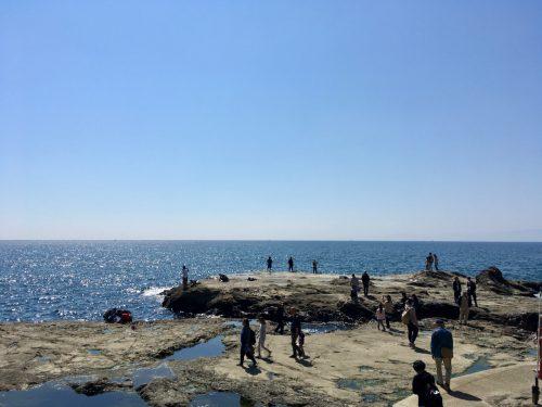 Die südliche Küste von Enoshima.