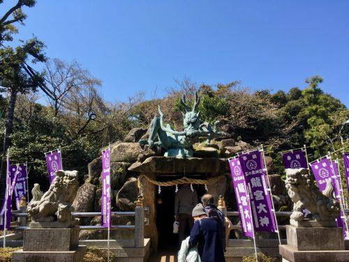 Der Eingang zu den Iwaya-Höhlen.
