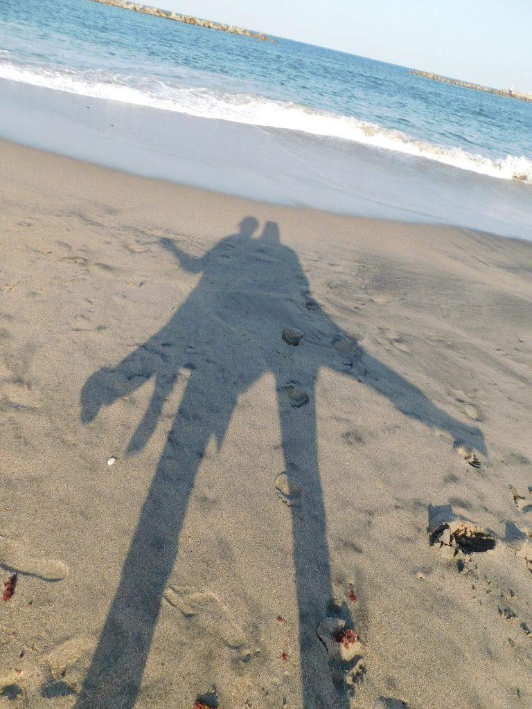Am Strand von Ajigaura.