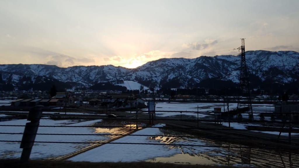 Die Reisfelder von Niigata.