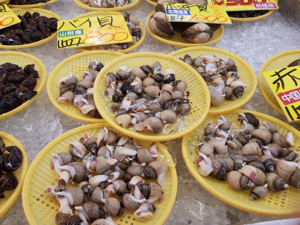 Frische Muscheln an der Seaside Line.