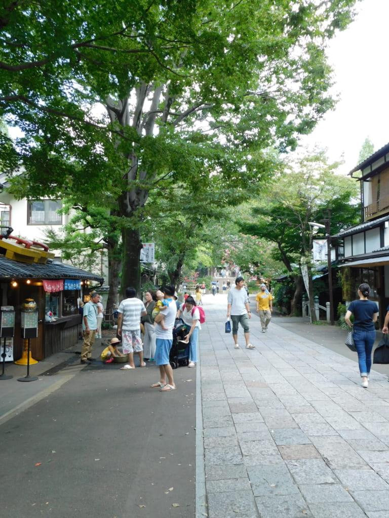 Die alten Straßen von Chofu.