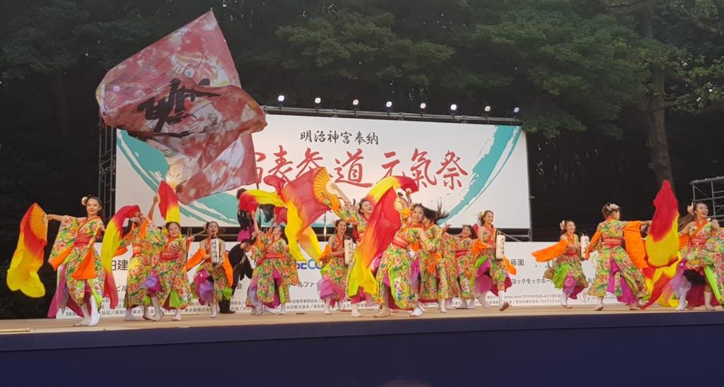 Das Yosakoi-Fest in Harajuku.