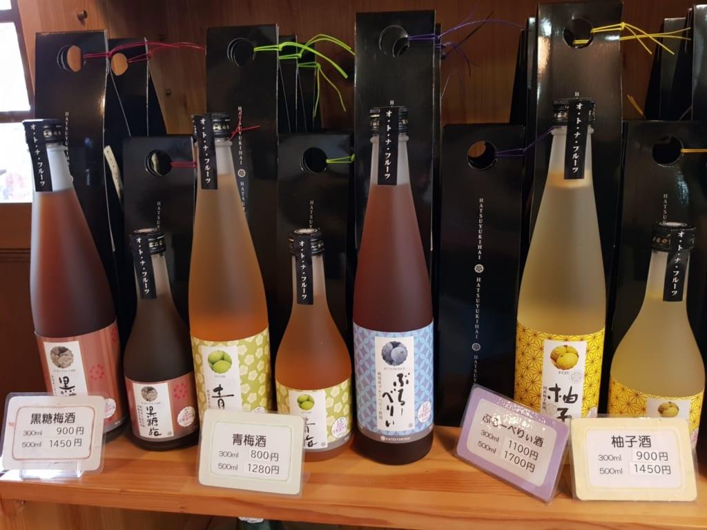 Die Auswahl an Sake ist riesig in der Die Sake Brauerei Kyowa Shuzo in Tobe.