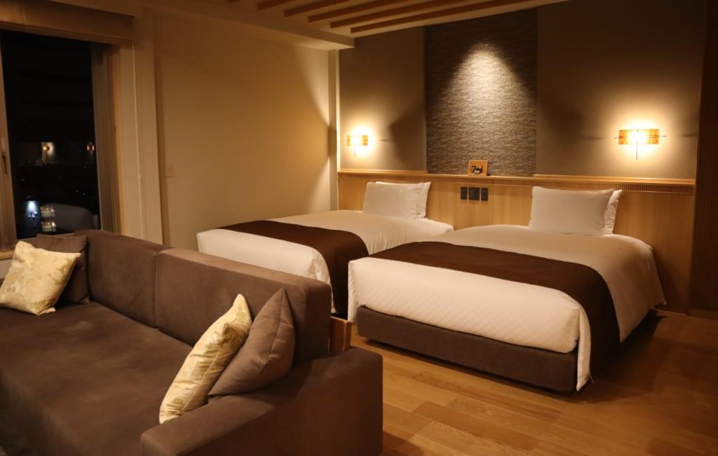 Das Hotel Kowakuen Haruka beim Dogo Onsen.