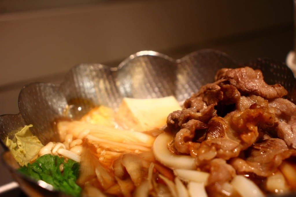 Das Abendessen im Hotel Kowakuen Haruka.