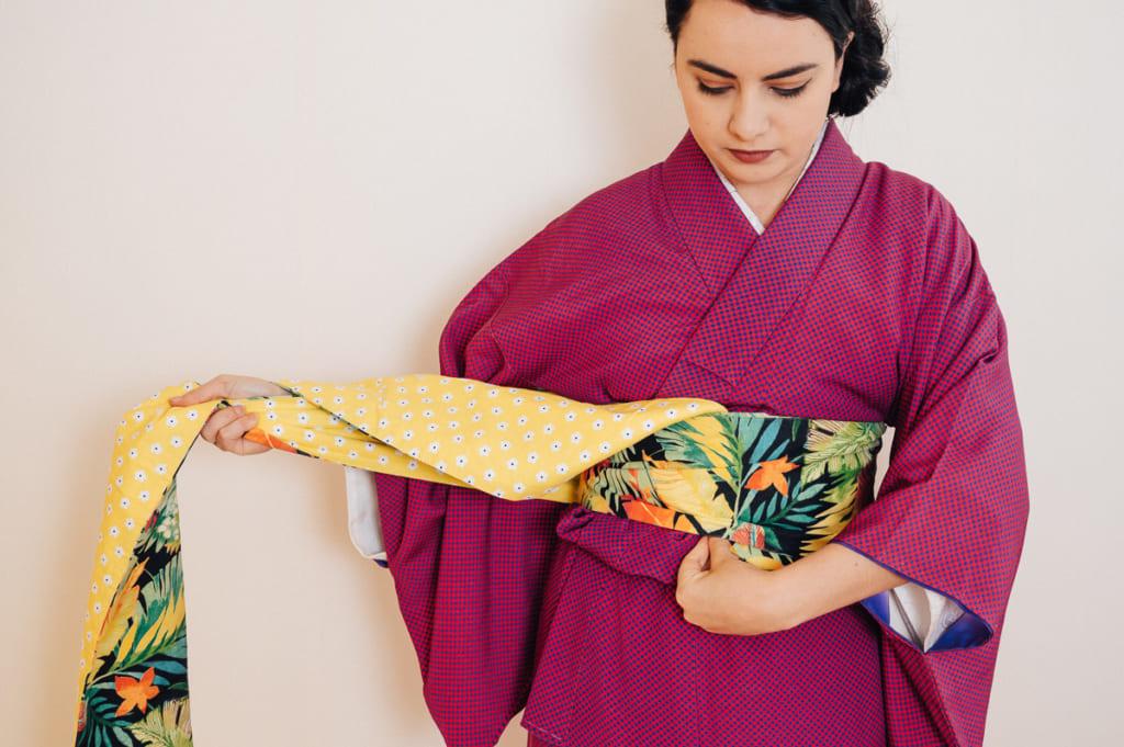 Wie man einen Obi bindet – Hanhaba Bunko Style