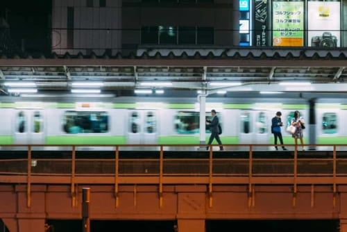 Die Yamanote Linie in Akihabara.