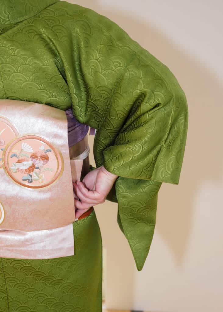 Nagoya-Obi mit Taiko-Schleife.