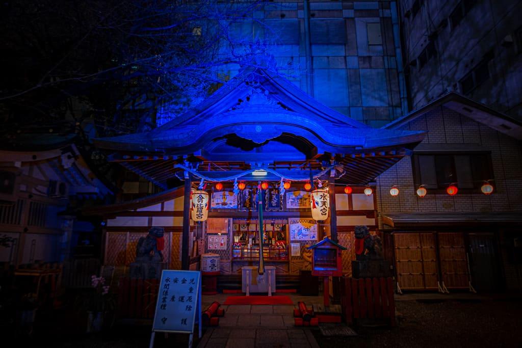 Der Tsuyu no Tenjinja in Umeda, Osaka.