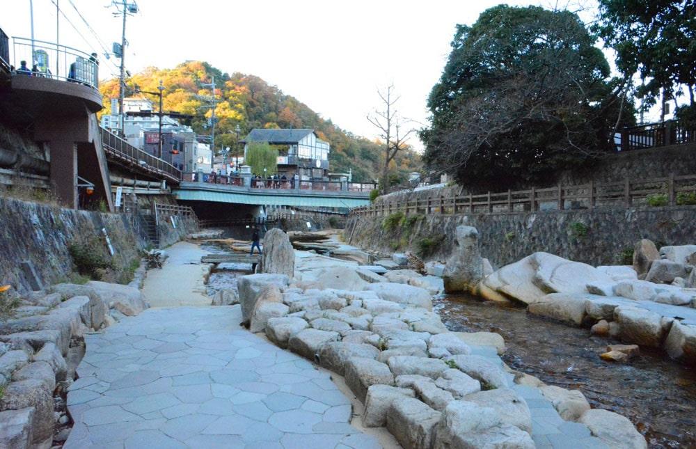 Taiko-Brücke im unteren Teil des Wasserparks