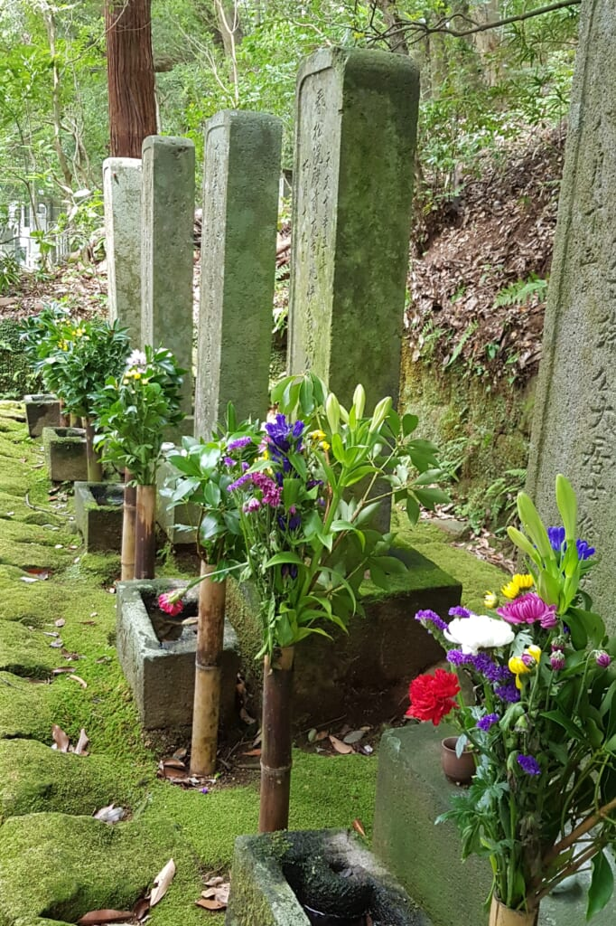 Japanische Gräber.