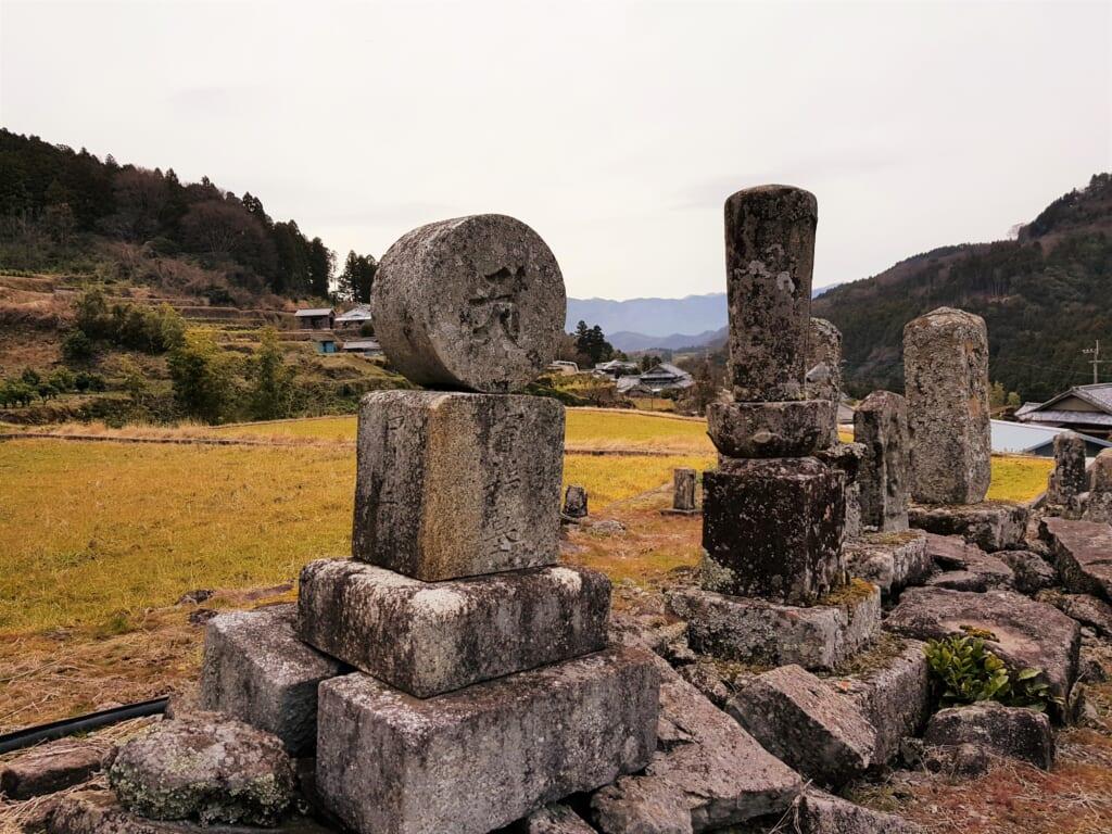 Japanische Friedhöfe in ländlichen Gebieten.