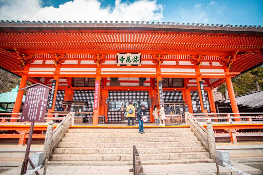 Hauptgebäude des Katsuo-ji Tempels.