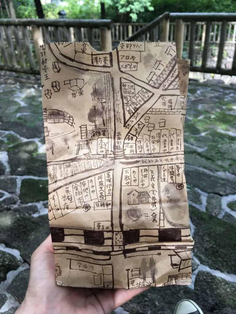 Verpackung des Süßigkeitengeschäfts Ishinabe Kuzumochi.