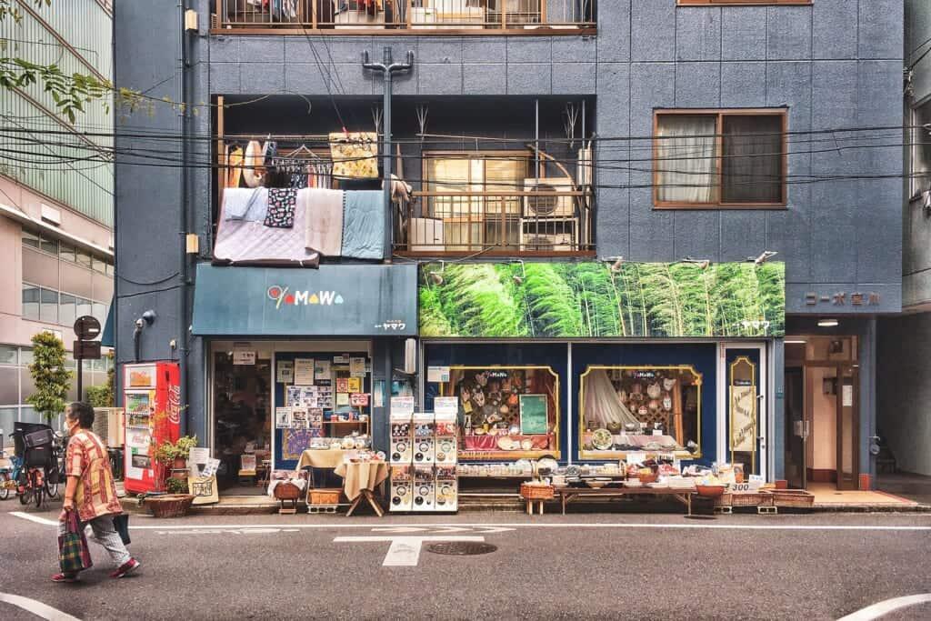 Yamawa, ein Geschäft für Keramik und Haushaltswaren, Tokio, Japan.