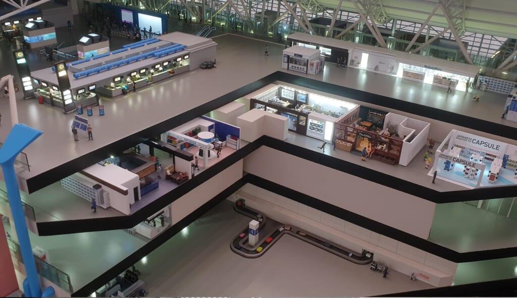 Small Worlds Tokyo: Innenbereich des Kansai Airports
