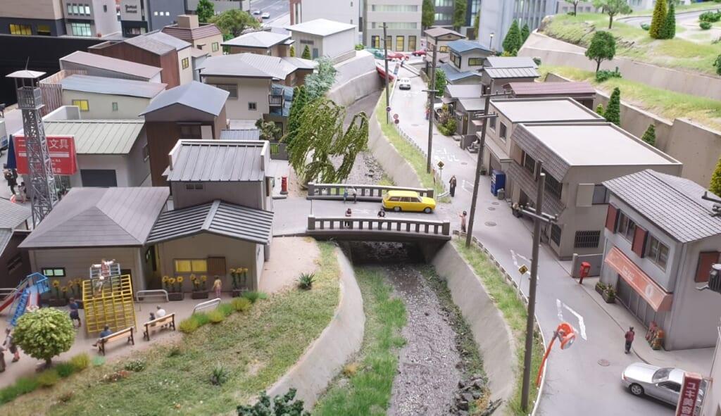Evangelion Miniatur in Small Worlds Tokyo.