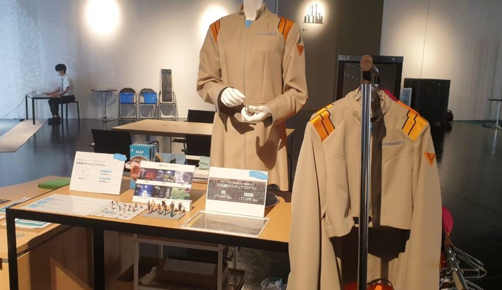 Evangelion Kostüme fürs Einwohnerrecht im Small Worlds Tokyo.