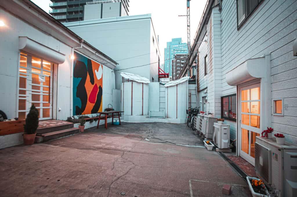 Der Innenhof der Galerien