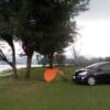 Unser Zelt auf dem Campingplatz am Strand.