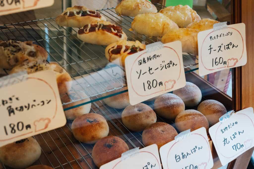Produkte der Kojikoji Pan Bäckerei.