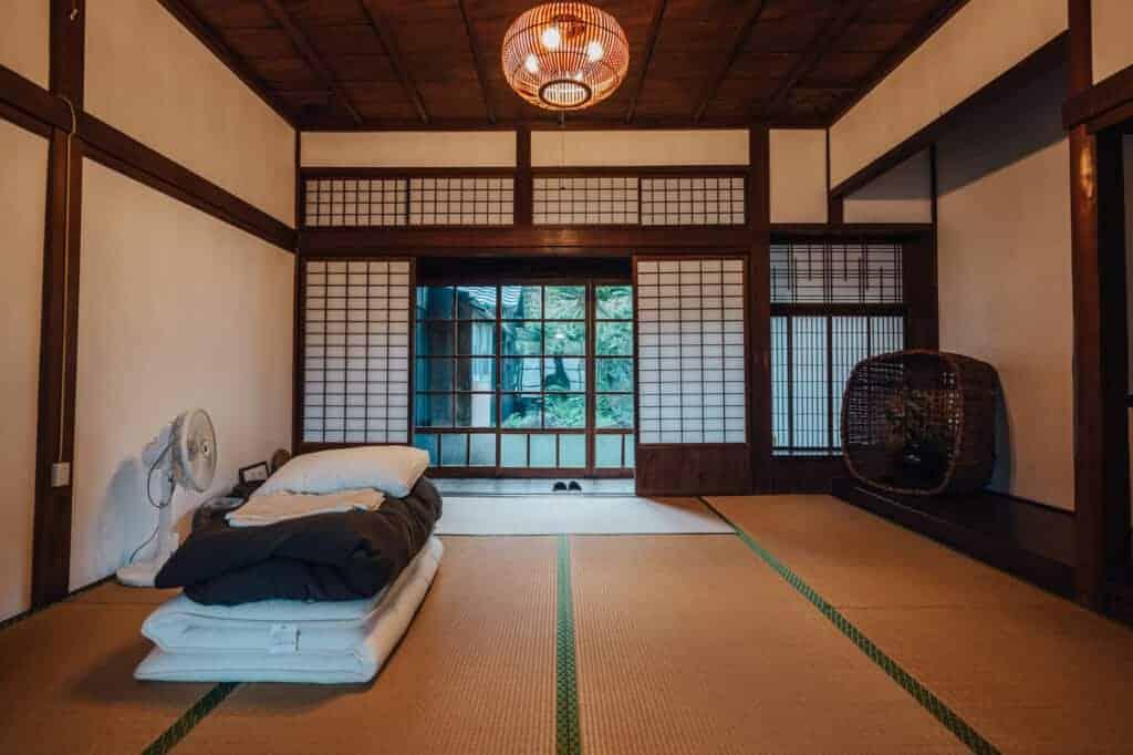 Ein Einzelzimmer im Yanoya.