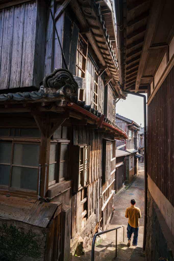 100 Jahre alte Gebäude in der Stadt Ojika.