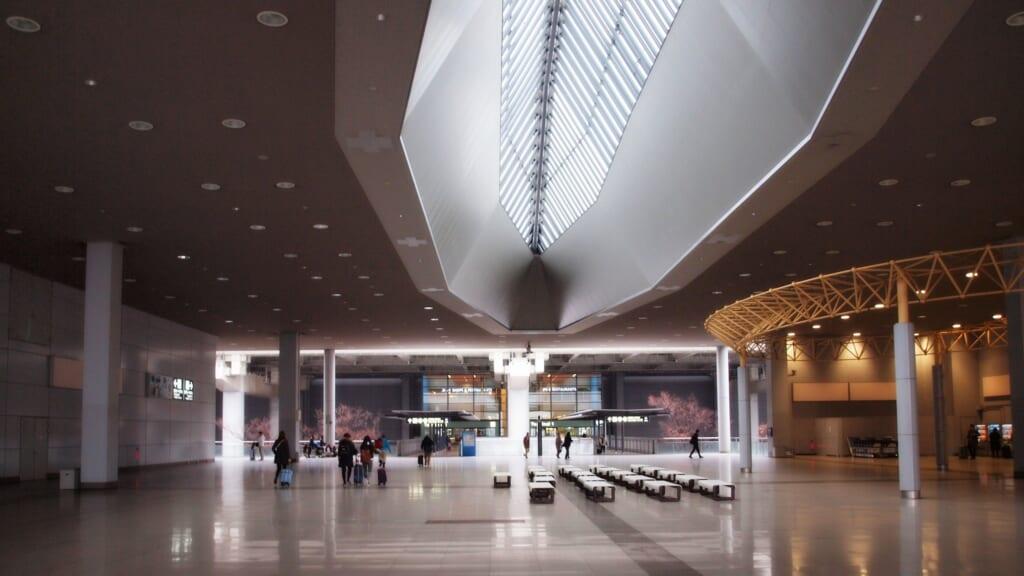 Der Flughafen Kansai während der Zeit des Coronavirus.