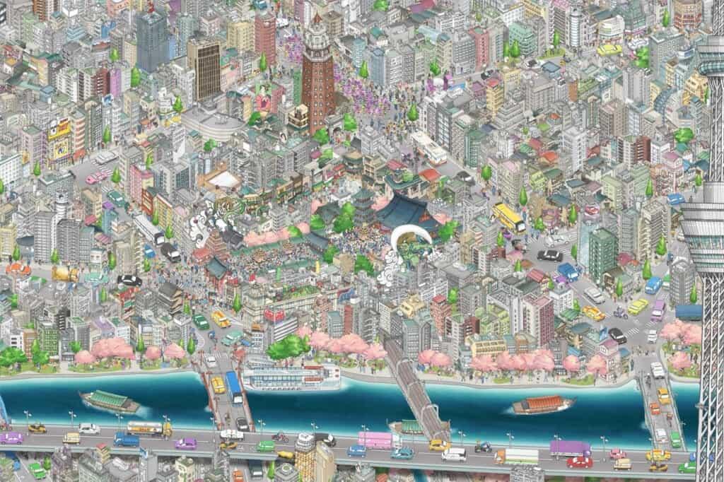 Die dauerhafte Ausstellung im Tokyo Skytree.