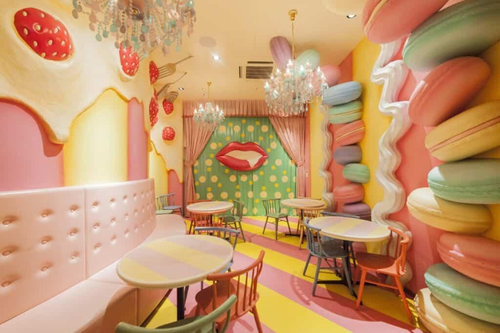 Der Mel-Tea Room in Pastellfarben.