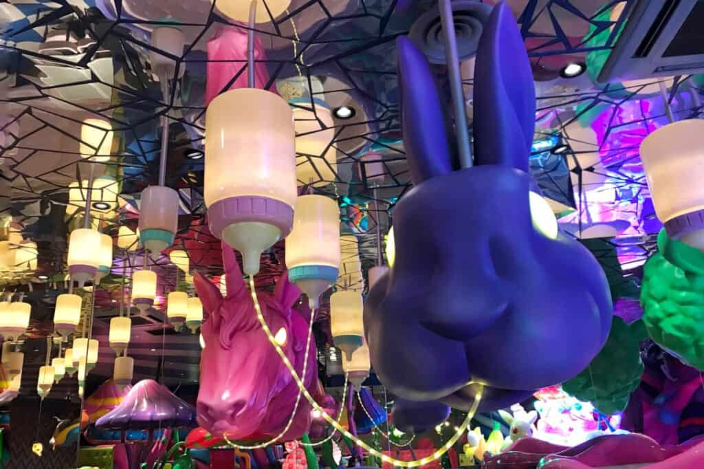 Der Kaninchenkopf im Milk Stand.