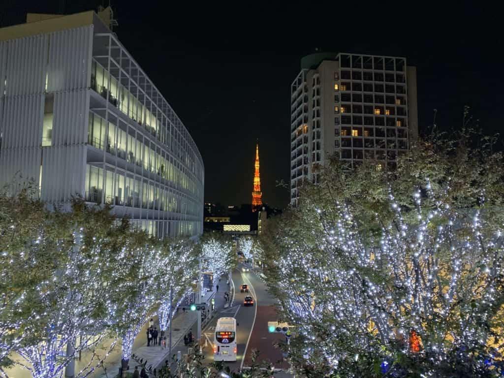 Sich die Winterbeleuchtung ansehen ist eines der Dinge, was man zu Weihnachten in Japan machen kann.
