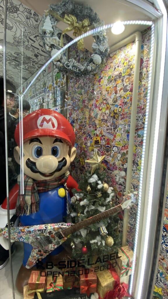 Super Mario als Weihnachtsdekoration.