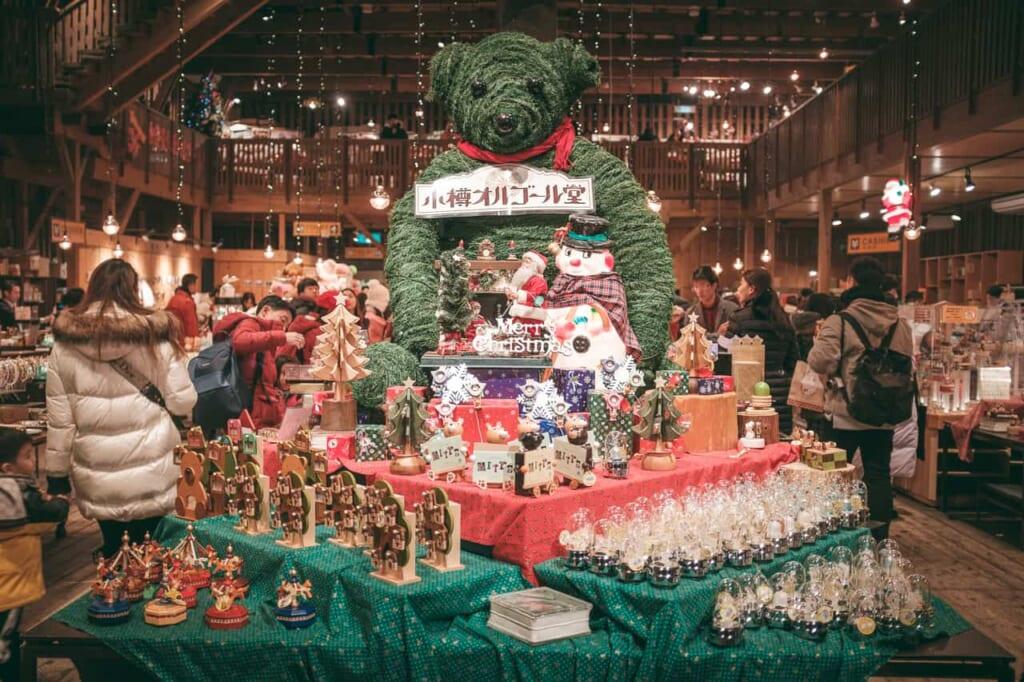 Was man zu Weihnachten in Japan machen kann, einen Weihnachtsladen in Hokkaido besuchen.
