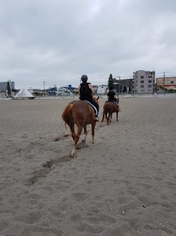 Am Strand von Miura Kaigan reiten.