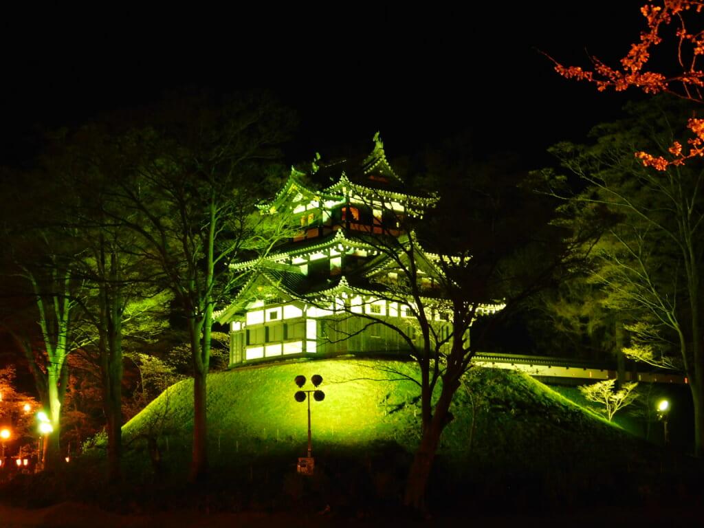 Die Burg Takada in Jōetsu, Niigata.