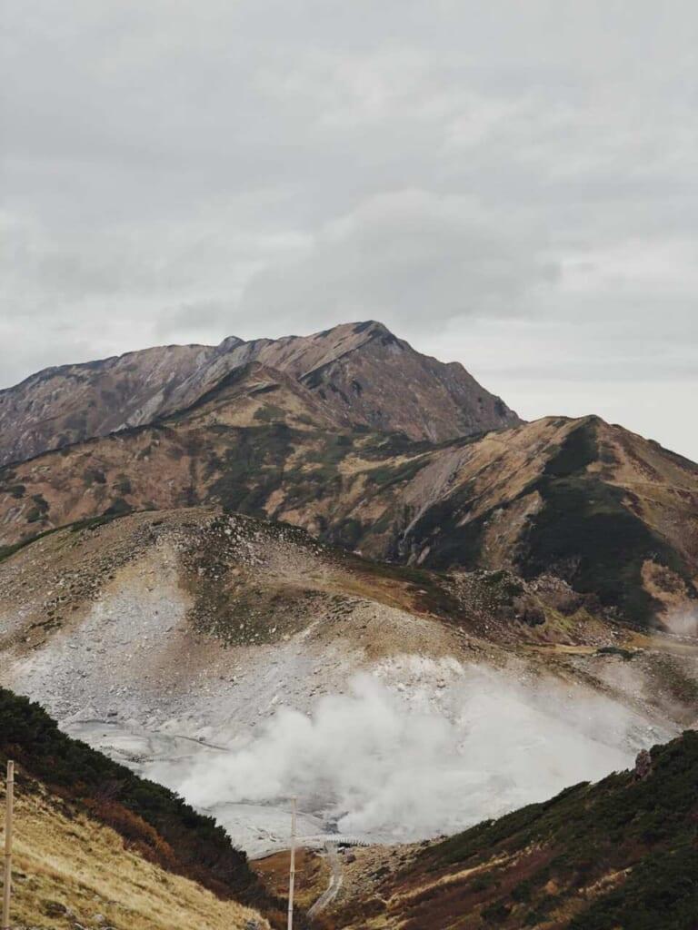 Vulkane in Japan: Der Berg Tate in der Präfektur Toyama.