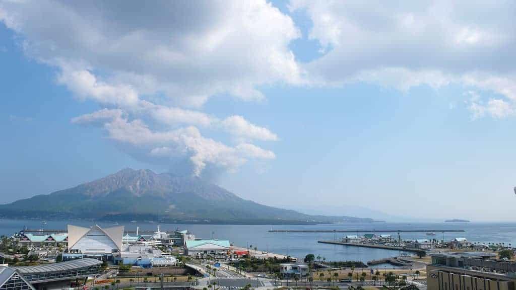 Der Sakurajima in Kagoshima.