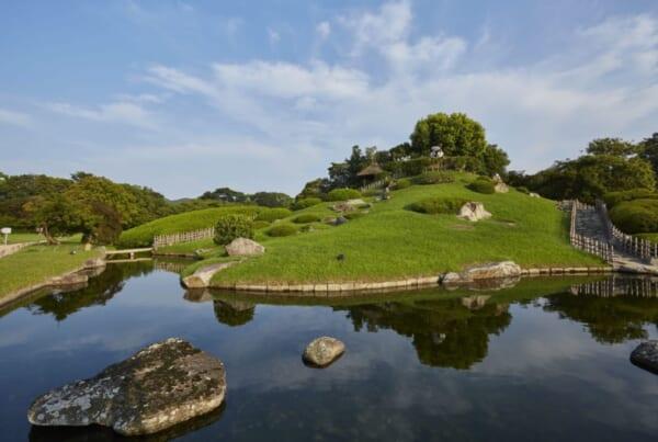 Japanische Gärten: Der Koraku-en Garten in der Präfektur Okayama.