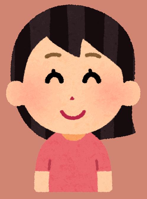 Eine lächelnde Frau.