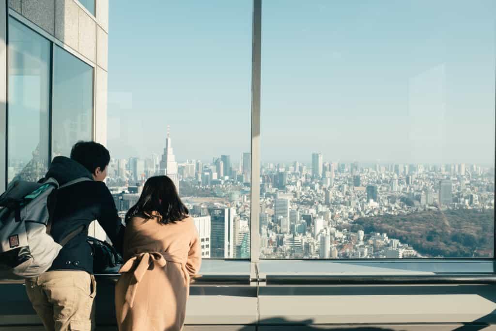 Die Top 4 der kostenlosen Aussichtsplattformen in Tokio