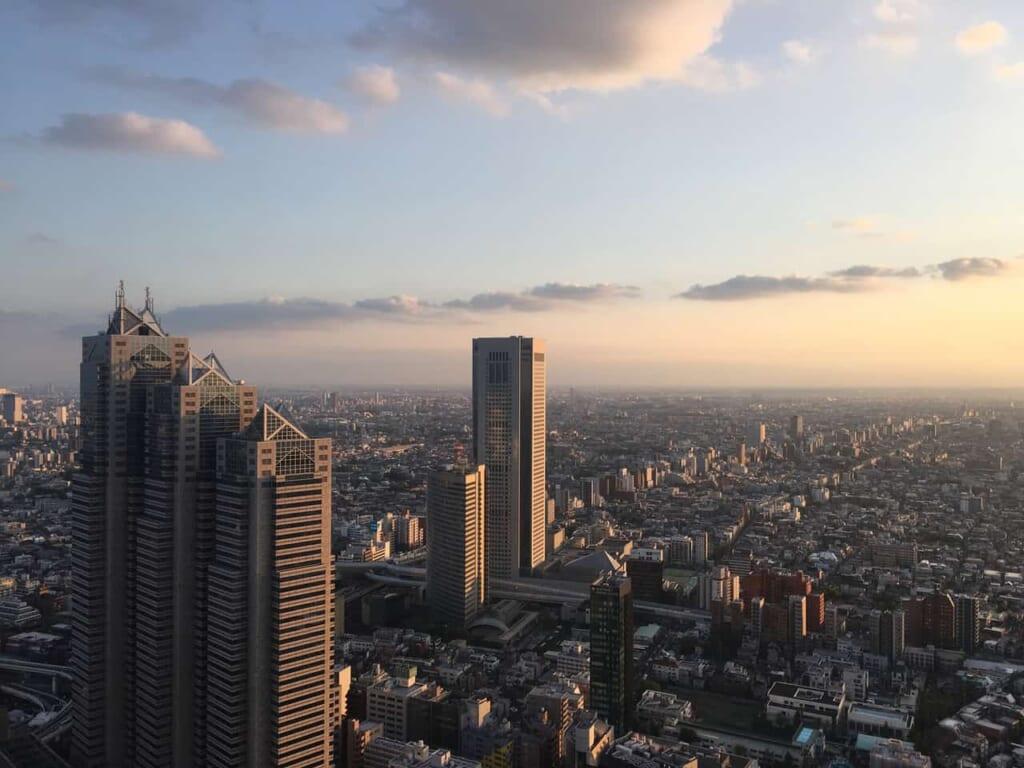Der Ausblick von der Aussichtsplattform des Tokyo Metropolitan Government Building.