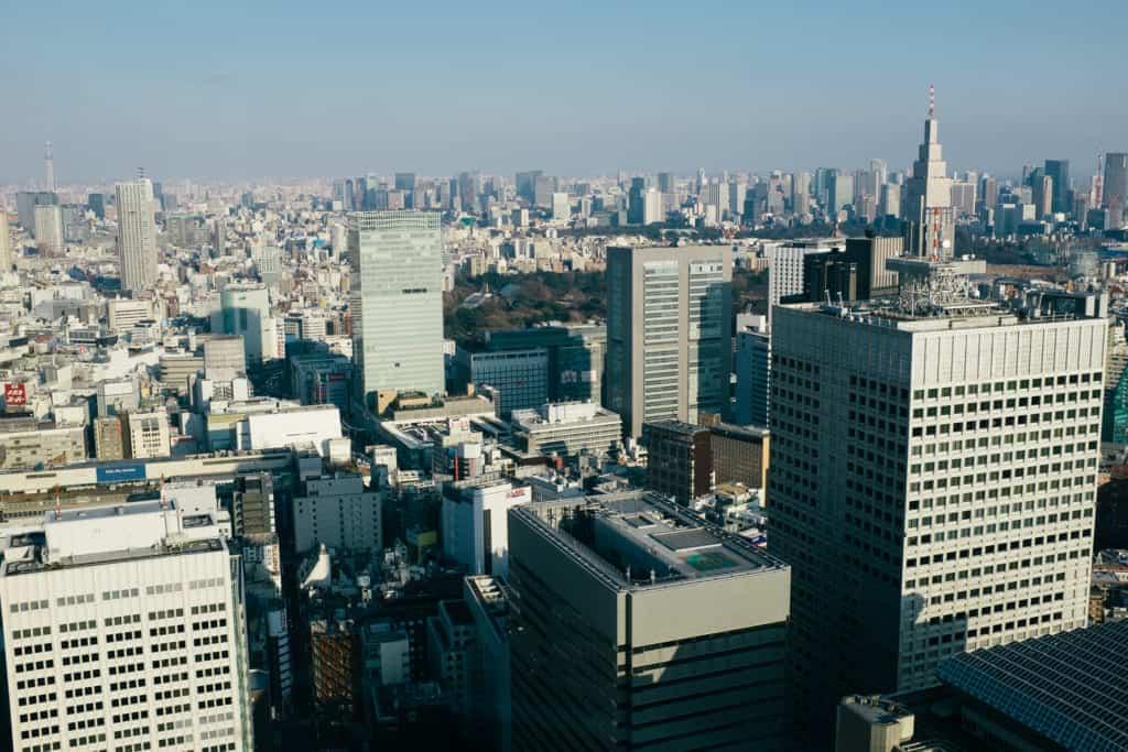 Der Blick auf Shinjuku.
