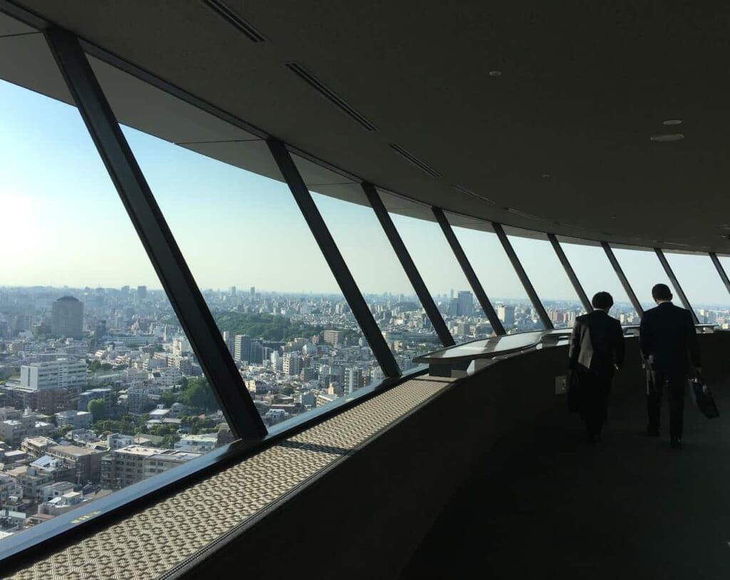 Die Aussichtsplattform der Bunkyo City Hall in Tokio.