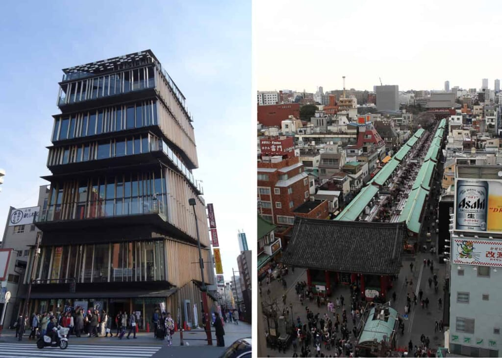 Das Asakusa Touristeninformationszentrum bietet ebenfalls eine kostenlose Aussichtsplattform an.