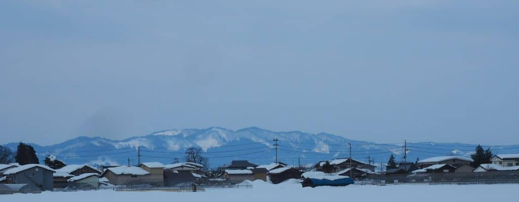 Das Inukko Schneefestival in der Stadt Yuzawa.
