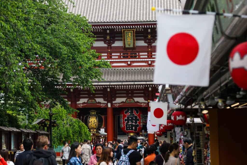 Die Geschichte der japanischen Flagge