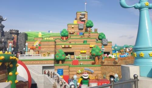 Überblick auf die Super Nintendo World.